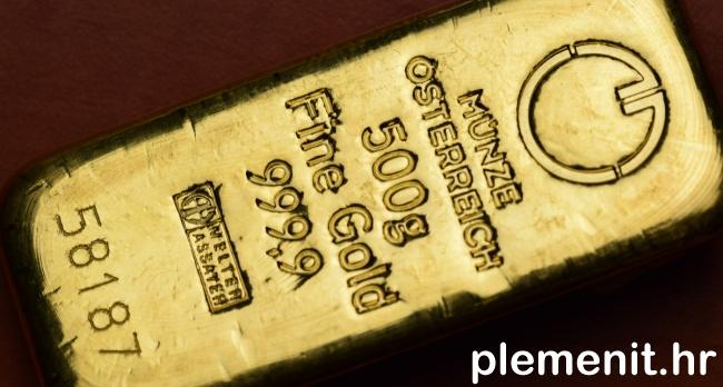 IZNIMNA CIJENA: Zlatna poluga 500 grama