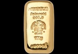 Zlatna poluga 100 grama, Heraeus