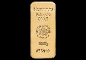 Zlatna poluga 1000 grama, Heraeus