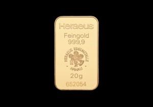 Zlatna poluga 20 grama, Heraeus