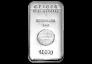 Srebrna poluga 1000 grama ili 1 kilogram, srebrne poluge od 1000 grama, Geiger