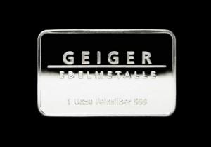 Srebrna poluga 1 unca, srebrne poluge od 1 unce, Geiger