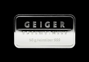 Srebrna poluga 50 grama, srebrne poluge od 50 grama, Geiger