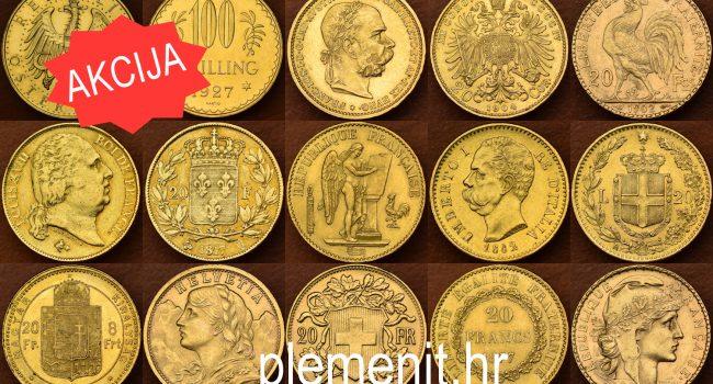 POVOLJNO! Europski povijesni zlatnici