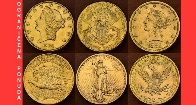 VELIKI POPUST: 3 povijesna američka zlatnika