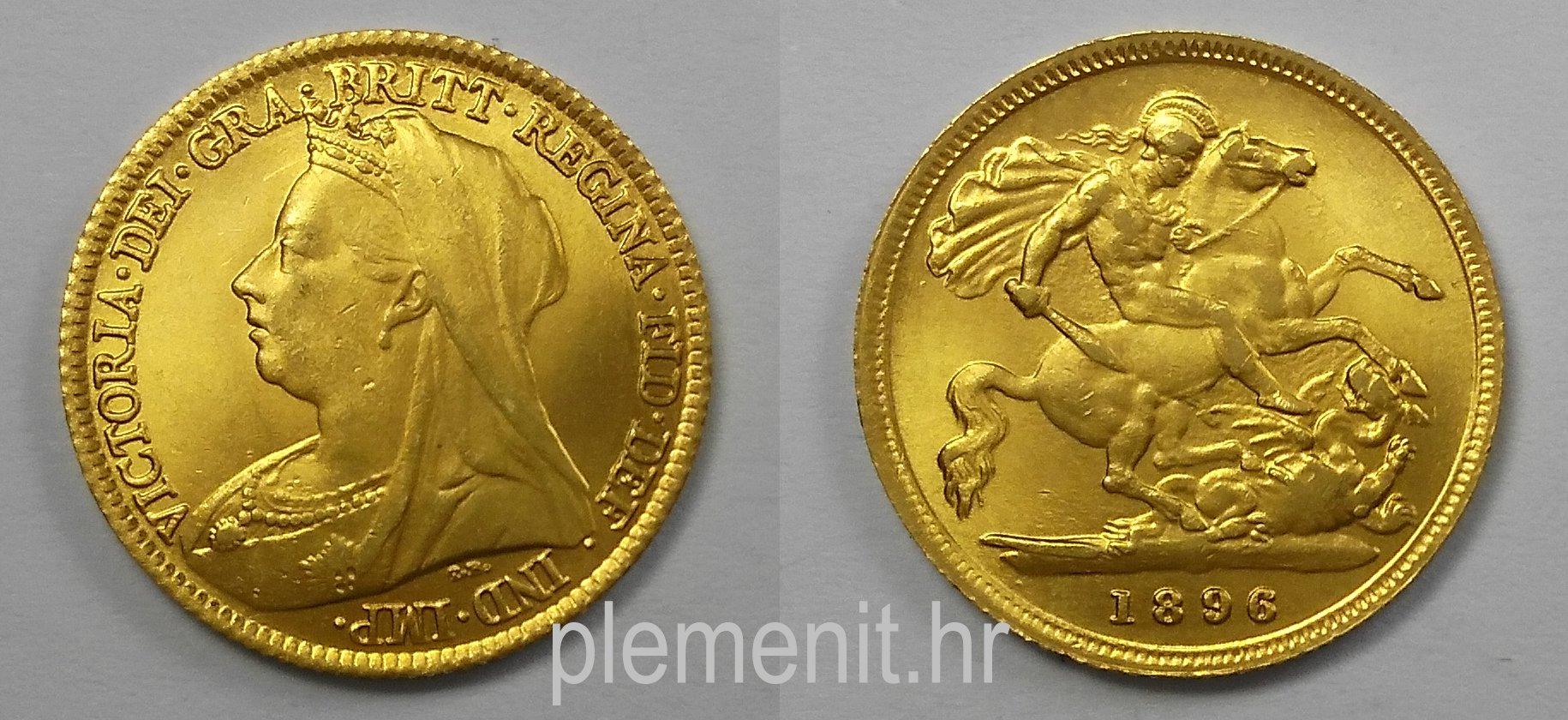 Half Sovereign Kraljica Victoria s velom 1896