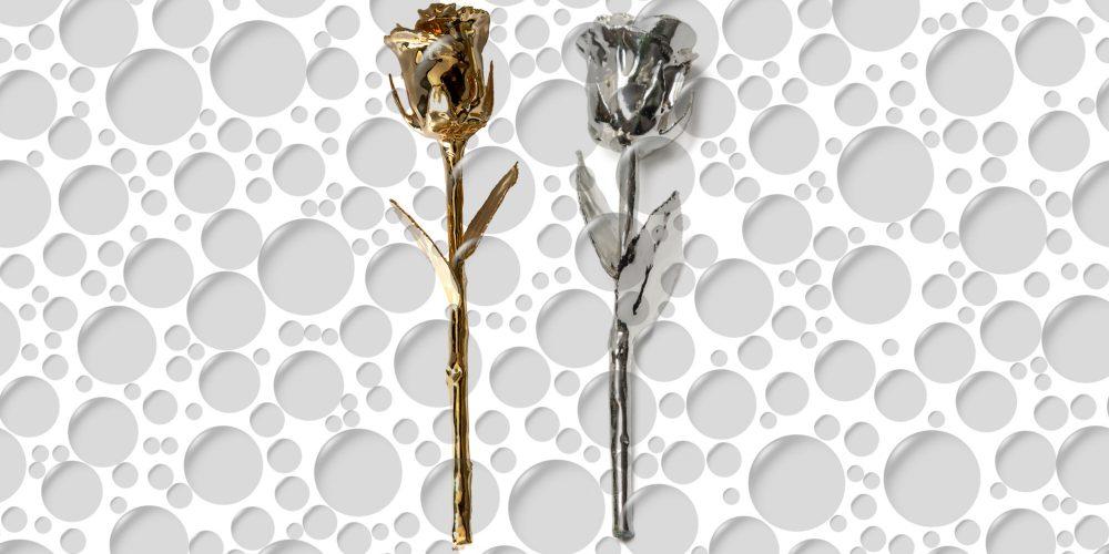 ZA ZALJUBLJENE: Zlatna i srebrna ruža