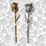 Zlatna i srebrna ruža za romantične