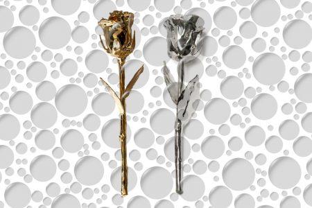 Zlatna i srebrna ruža za Valentinovo