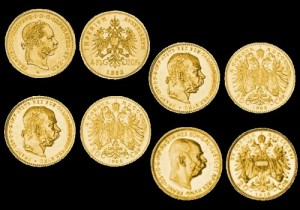 Austrougarski zlatnici 10 corona, 20 corona, 4 florin, 8 florin, 10 franc, 20 franc