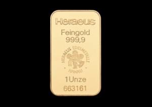 Zlatna poluga 1 unca, Heraeus