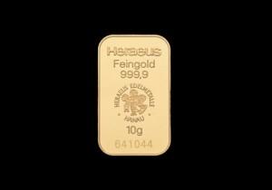 Zlatna poluga 10 grama, Heraeus