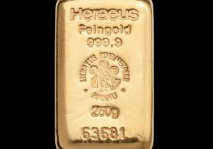 Zlatna poluga 250 grama, Heraeus