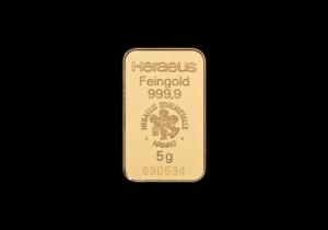 Zlatna poluga 5 grama, Heraeus