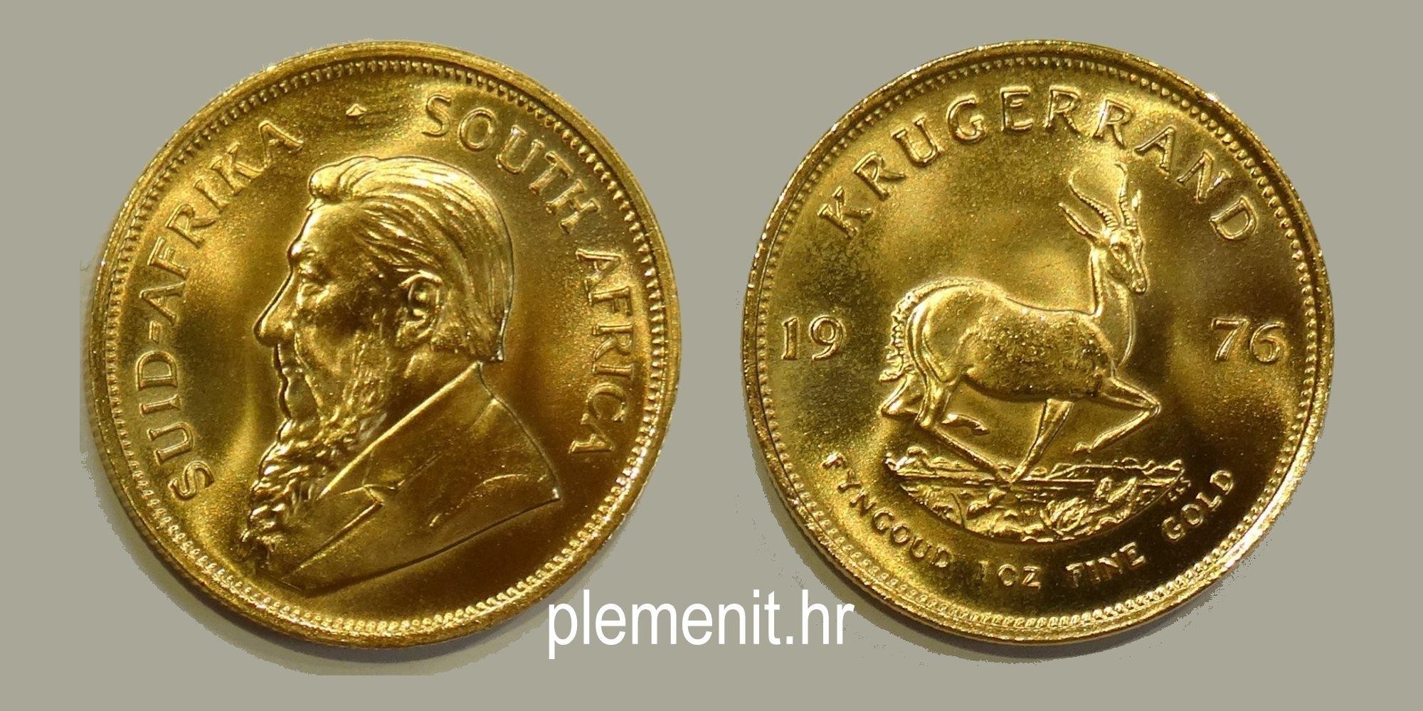 Zlatnik Krugerrand 1976 1 unca