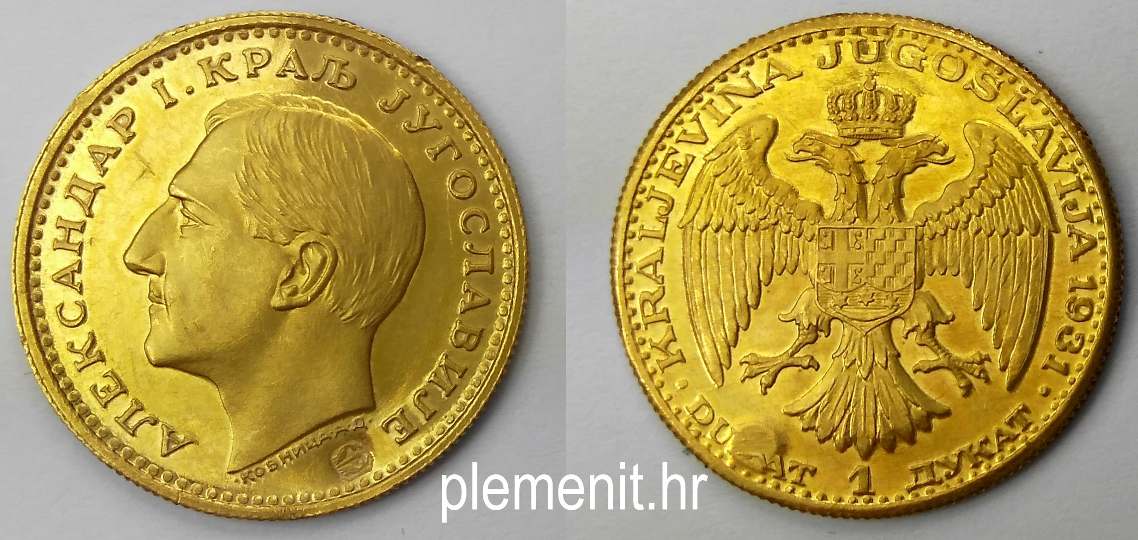 Zlatni dukat kralj Aleksandar I 1931 Kraljevina Jugoslavija