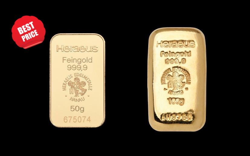 Srednje zlatne poluge - najbolja cijena