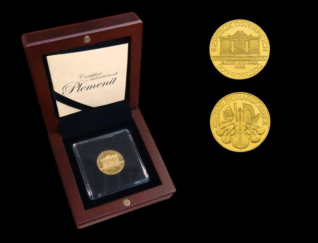 Zlatnik Wiener Philharmoniker u kutiji