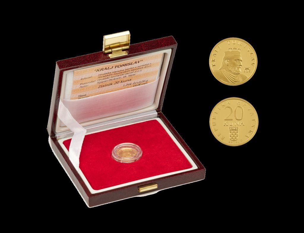 Zlatnik 20 kuna Kralj Tomislav