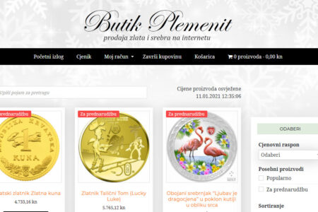 Butik Plemenit: internetska trgovina zlatom...