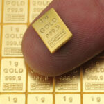 Zlatna poluga 1 gram Combibar, dio veće poluge