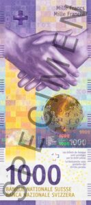 Nova novčanica 1000 CHF švicarskih franaka