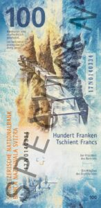 Nova novčanica 100 CHF švicarskih franaka