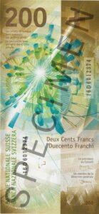 Nova novčanica 200 CHF švicarskih franaka