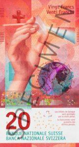 Nova novčanica 20 CHF švicarskih franaka