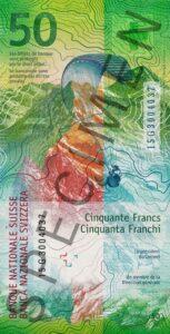 Nova novčanica 50 CHF švicarskih franaka