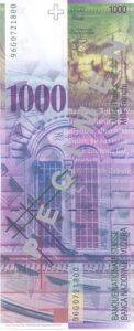 Stara novčanica 1000 CHF švicarskih franaka200 CHF švicarskih franaka