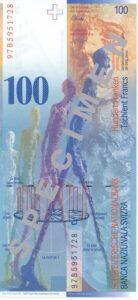 Stara novčanica 100 CHF švicarskih franaka