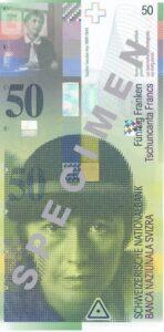 Stara novčanica 50 CHF švicarskih franaka
