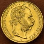 Povijesni zlatnik 8 florina 20 franaka Franc Ios