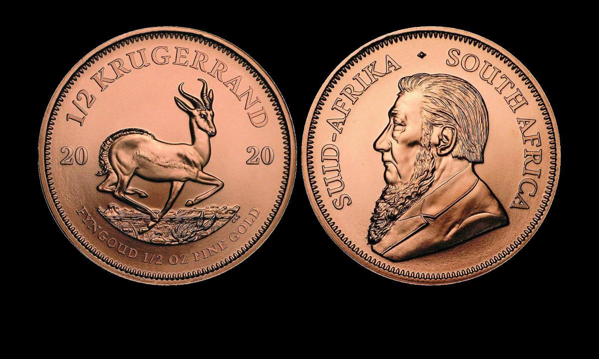 Zlatnik Krugerrand pola unce (1/2 oz) u akciji
