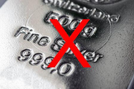 Nestašica srebrnih poluga od 250 i 500 grama